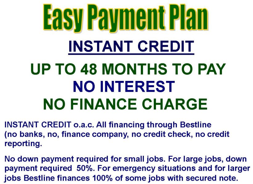 Bestline Plumbing Credit Offer Ad